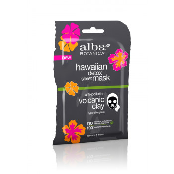 Alba Botanica Detox Micro-Extraction Sheet Mask - Вулканическая гавайская маска для детоксикации (85гр.)