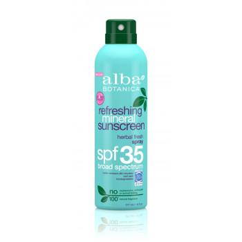 Alba Botanica Refreshing Mineral Spray Sunscreen SPF 35 - Натуральное солнцезащитное средство (177мл.)