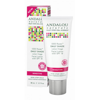 Andalou Naturals 1000 Roses Daily Shade Facial Lotion SPF 18 - Лосьон для лица SPF 18 (80мл.)