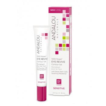 Andalou Naturals 1000 Roses Eye Revive Contour Gel - Восстанавливающий контурный гель для кожи вокруг глаз (18мл.)