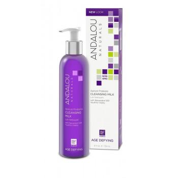 Andalou Naturals Apricot Probiotic Cleansing Milk - Очищающее молочко с комплексом пробиотиков и  маслом абрикоса (178 мл.)
