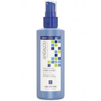 Andalou Naturals Age Defying Hair Spray - Укрепляющий спрей для придания объема тонким волосам (178мл.)