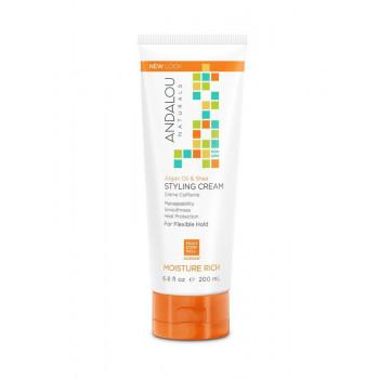 """Andalou Naturals Argan & Swt Orange Smooth Hold Styling Cream - Фиксирующий крем-бальзам для выравнивания волос """"Арган и сладкий апельсин"""" (200мл.)"""