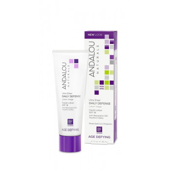 Andalou Naturals Ultra Sheer Daily Defense Facial Lotion with SPF 18 - Дневной защитный лосьон для лица  SPF 18 (80мл.)