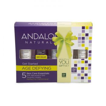 """Andalou Naturals Get Started Age Defying Kit - Набор из 5 минипродуктов """"комплексный антивозрастной уход"""" 5шт."""