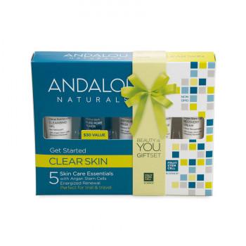 "Andalou Naturals Get Started Clarifying Kit  - Набор из 5 минипродуктов ""комплексное очищение лица""  (5шт.)"