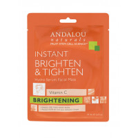 "Andalou Naturals  Instant Brighten & Tighten Hydro Serum Facial Mask -  Маска-сыворотка  для лица осветляющая ""Кукурма и витамин С"" (6шт. по 18мл.)"