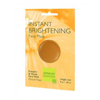 "Andalou Naturals Instant Brightening Face Mask -  Маска для лица освежающая ""Тыква и Манука мёд"" (6шт. по 8мл.)"