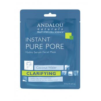 "Andalou Naturals Instant Pure Pore Hydro Serum Facial Mask -  Маска-сыворотка  для лица очищающая ""Чистые поры"" (6шт. по 18мл.)"