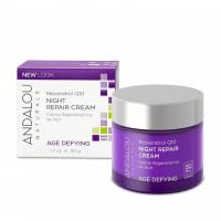 """Andalou Naturals Resveratrol Q10 Night Repair Cream - Ночной восстанавливающий крем """"Ресвератрол и  Q10"""" (50мл.)"""
