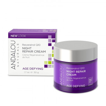 "Andalou Naturals Resveratrol Q10 Night Repair Cream - Ночной восстанавливающий крем ""Ресвератрол и  Q10"" (50мл.)"