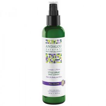 "Andalou Naturals Lavender & Biotin Full Volume Style Spray - Стайлинг-спрей для объема волос ""Лаванда и биотин"" (242мл.)"