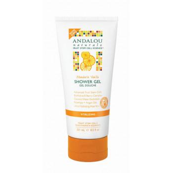 "Andalou Naturals Mandarin Vanilla Vitalizing Shower Gel - Гель для душа регенерирующий ""Ваниль и Мандарин"" (251мл.)"