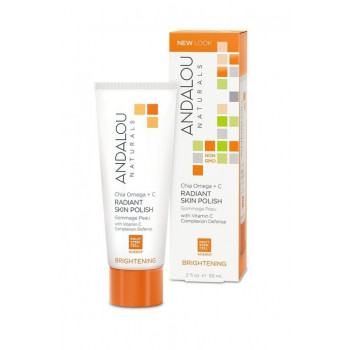 Andalou Naturals Chia + Omega Radiant Skin Polish - Крем-скраб для лица «Семена Чиа+Омега» (58мл.)