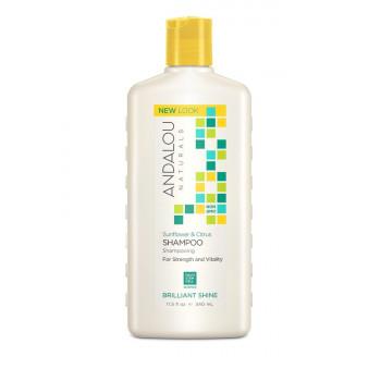 "Andalou Naturals Sunflower & Citrus Brilliant Shine Shampoo - Шампунь для блеска волос ""Подсолнечник и цитрус"" (340мл.)"