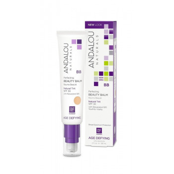 Andalou Naturals Skin Perfecting BB Beauty Balm Natural Tint SPF 30 - Выравнивающий бальзам для лица SPF 30 (саморегулирующий оттенок) 58мл.