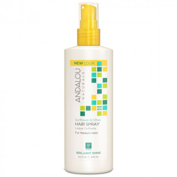 "Andalou Naturals Sunflower & Citrus Medium Hold Hair Spray - Спрей для волос ""Подсолнечник и цитрус"" (242мл.)"