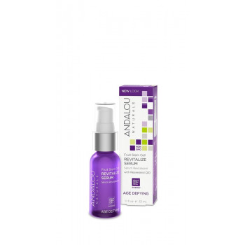 "Andalou Naturals Fruit Stem Cell Revitalize Serum - Восстанавливающая сыворотка ""Ресвератрол и  Q10"" (32мл.)"