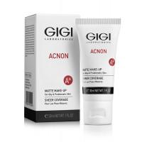 GIGI ACNON Matte makeup - Крем-тон матирующий (30мл.)
