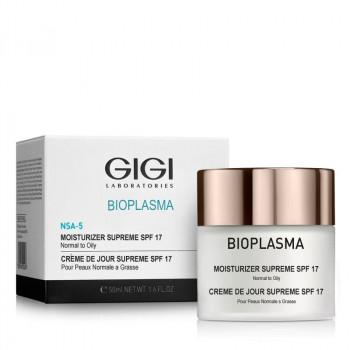 GIGI BIOPLASMA Moisturizer Supreme SPF 17 - Крем увлажняющий для жирной кожи с SPF 17 (50мл)