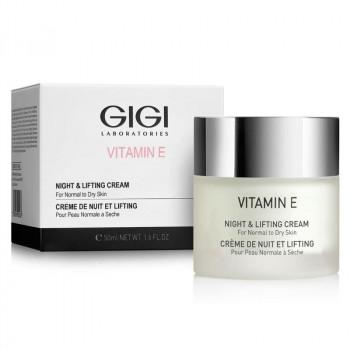 GIGI VITAMIN E Night&Lifting cream - Крем ночной лифтинговый (50мл)