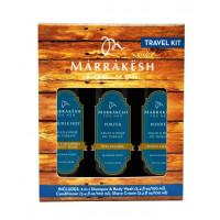 Marrakesh - for Men Travel Kit - Набор для мужчин: шампунь-гель для душа 2 в 1; крем для бритья; стайлинг-гель (3*100мл.)