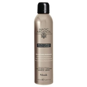 """Nook Restructuring Fixing Mousse - Восстанавливающий мусс для укладки волос средней фиксации """"Магия Арганы"""" (250мл.)"""