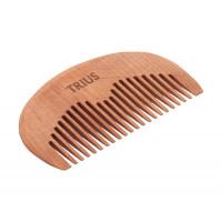 """Trius - Гребень для бороды и усов """"форма - стандарт"""" темный"""