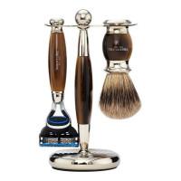 Truefitt and Hill Edwardian Set Faux Horn Badger Brush Fusion Razor Stand - Кисть для бритья + Станок с лезвием Fusion (Рог)