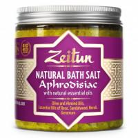 Зейтун - Афродизиак соль для ванн с маслами розы, сандала, нероли и герани (250мл.)