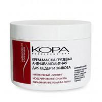 Кора - Крем-маска грязевая антицеллюлитная для бедер и живота, 300 мл.