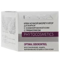 Кора -  Крем ночной биорегулятор, для комбинированной и жирной кожи, с пребиотиком, 50 мл.