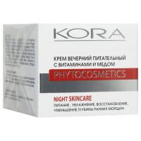 Кора - Крем вечерний питательный с витаминами и медом (50мл.)