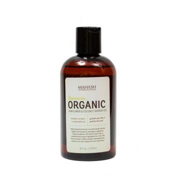 MAHASH Organic Sunflower and Coconut Shower Gel - Органический гель для душа с подсолнечным и кокосовым маслом (240мл.)