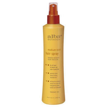 Alba Botanica Hair Spray Medium Hold - Натуральный лак для волос средней фиксации (237мл.)