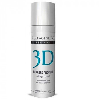 Medical Collagene 3D Express Protect - Гель-маска для лица с софорой японской, профилактика купероза, устранение темных кругов и отечности (30мл.)