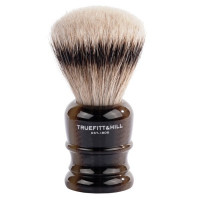 Truefitt and Hill  Faux Horn  Super Badger  Shave Brush  - Кисть для бритья  рог с серебром (Ворс серебристого барсука)