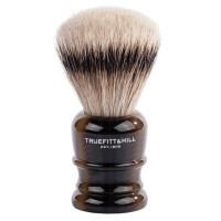Truefitt and Hill  Faux Horn  Super Badger  Shave Brush  - Кисть для бритья  рог с серебром (Ворс серебристого барсука)