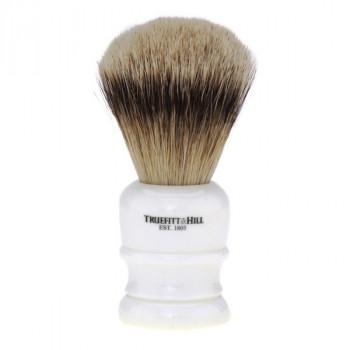 Truefitt and Hill  Faux Porcelain  Super Badger  Shave Brush  - Кисть для бритья фарфор с серебром (Ворс серебристого барсука)