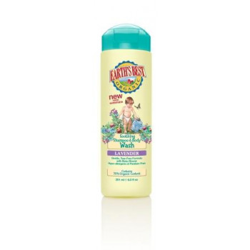 Earth's Best Shampoo & Body Wash Шампунь и гель для душа с лавандой (251мл.) с 0 мес.