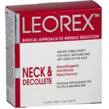 Leorex Neck & Decollete - Гипоаллергенная нано-маска для экспресс-разглаживания морщин шеи и зоны декольте (10саше)